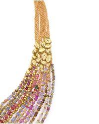 Natasha Collis | Metallic Hand-Melted 18Kt Yellow Gold Collar Necklace | Lyst