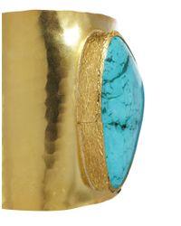 ASOS - Blue Statement Stone Cuff - Lyst