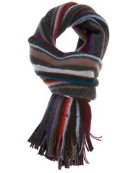 Paul Smith Multicolor Striped Knit Scarf for men