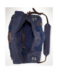 Ralph Lauren Blue Firemans Canvas Duffel Bag for men