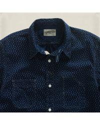 RRL Blue Star Iron Ore Shirt for men