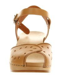 Swedish Hasbeens Brown Savannah Cut Out Nature Leather