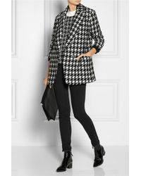 Theory Wool Blend Danvey Brookline Coat in Blackwhite