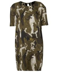 TOPSHOP Natural Silk Camo Tee Dress By Boutique