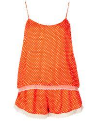 TOPSHOP Orange Spotty Cami and Shorts Pj Set