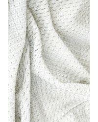 TOPSHOP White Cutout Glitter Midi Bodycon Dress