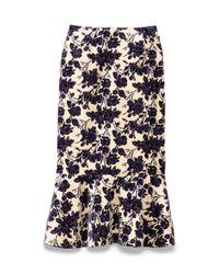 Tory Burch Purple Kai Skirt