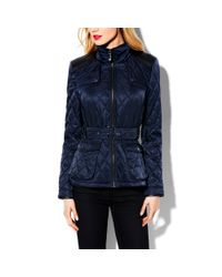 Vince Camuto Blue Transitional Quilted Jacket