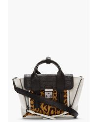 3.1 Phillip Lim White Leopard Print Calf_hair Pashli Mini Satchel