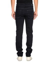 7 For All Mankind Black Slimmy Luxe Performance Slim-fit Tapered Jeans for men