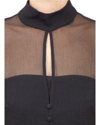 Alexander McQueen Black Silk Chiffon Blouse