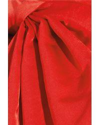 Alexander McQueen Red Duchess Silk satin Gown