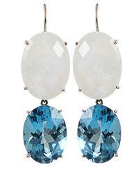 Andrea Fohrman - Blue Double Oval Moonstone Earrings - Lyst