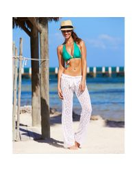 Becca Multicolor Straight-leg Tiefront Crochet Pants