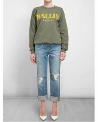 Brian Lichtenberg - Green Unisex Ballin Cottonblend Sweatshirt - Lyst