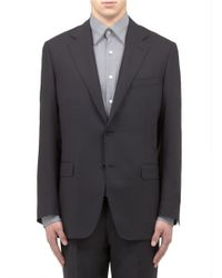 Canali Black Water-resistant Travel Blazer for men