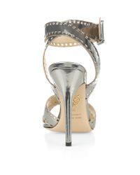 Charlotte Olympia Metallic Take 110 Leather Ankle Strap Stiletto