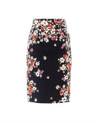 Dolce & Gabbana | Black Flower Brocade Pencil Skirt | Lyst