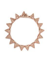 Eddie Borgo | Metallic Pavé Small Cone Bracelet | Lyst