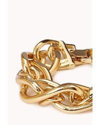 Forever 21 - Metallic Modernist Chainlink Bracelet - Lyst