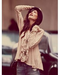 Free People | White Ruffled Whimsy Top | Lyst