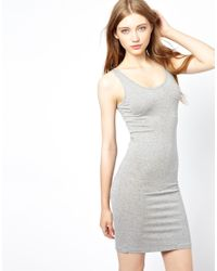 Ganni Gray Jersey Tank Dress