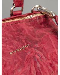 Givenchy Red Pandora Sheep Skin Tote