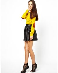 Glamorous Yellow Marl Jumper in Fine Jersey with Elbow Patch