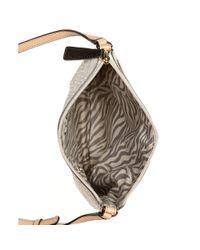 Guess Natural Guess Handbag Specks Mini Top Zip Cross Body
