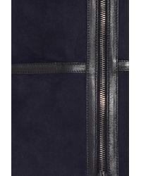 Isabel Marant Blue Boyce Shearling Coat