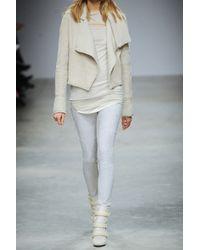 Isabel Marant White Inko Stretch-suede Leggings