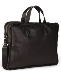 Marc By Marc Jacobs Black Outofbounds Leather Briefcase for men