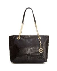 Michael Kors Red Jet Set Large Chain East West Tote