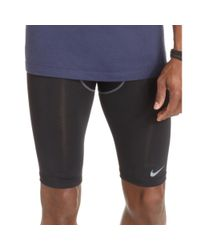 Nike - Black Pro Combat Compression 9 Running Shorts for Men - Lyst