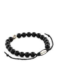 Paul Smith | Black Skull Bead Bracelet for Men | Lyst