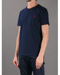 Polo Ralph Lauren Blue Custom Fit T-shirt for men