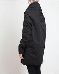 Rick Owens Black Padded Cocoon Coat