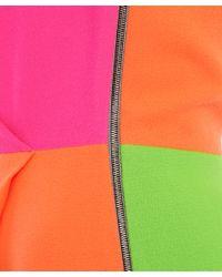 ROKSANDA Orange Colour Block Midi Dress