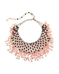 Rosantica | Pink Papavero Golddipped Onyx and Agate Necklace | Lyst