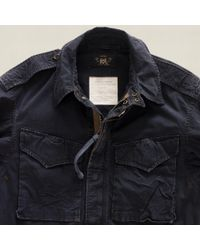 RRL Blue Modified Field Coat for men