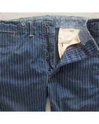 RRL Blue Striped Officers Chino Pant for men