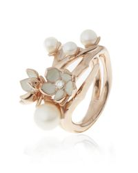 Shaun Leane | Metallic Cherry Blossom Ring With Diamonds And Pearls | Lyst