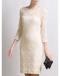 Somerset by Alice Temperley Yellow Lace Pencil Dress