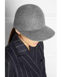 Stella McCartney Gray Wool Baseball Cap