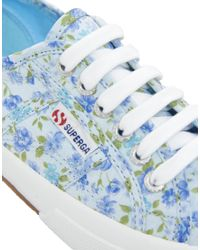 Superga Blue Floral Trainer