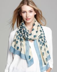Tory Burch Natural Scarab Scarf