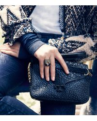 Tory Burch - Green Camille Ring - Lyst