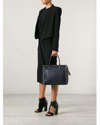 Valentino Blue Studded Tote Bag