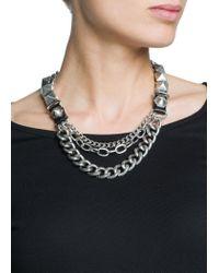 Mango Metallic Punk Style Chain Necklace