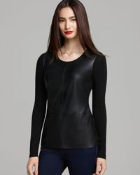 Bailey 44 Black Top - Alliteration Faux Leather